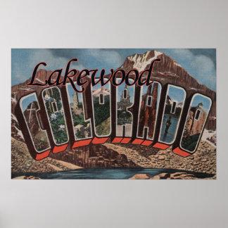 Lakewood, Colorado - escenas grandes de la letra Impresiones