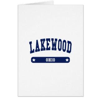 Lakewood Ohio College Style tee shirts Greeting Card