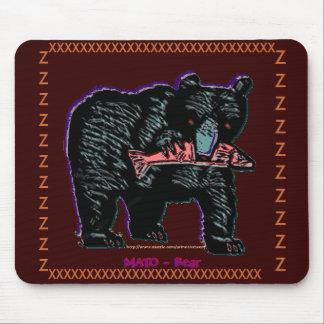 "Lakhotah Country-black-bear, ""MATO"" & salmon Mouse Pad"