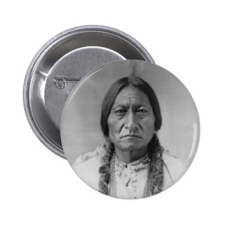 Lakota American Indian Chief Sitting Bull 2 Inch Round Button