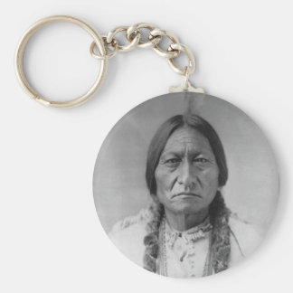 Lakota American Indian Chief Sitting Bull Keychain