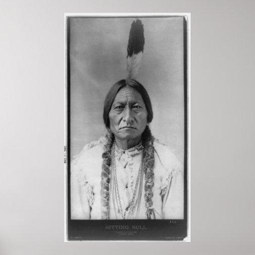 Lakota American Indian Chief Sitting Bull Poster