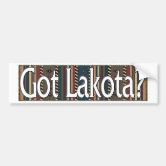 Lakota Etiqueta De Parachoque