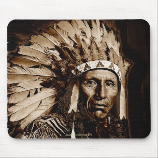 Lakota Historic Native American Chief Eagle Dog Mousepad