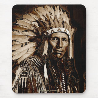 Lakota Historic Native American Chief Eagle Dog Mouse Pads