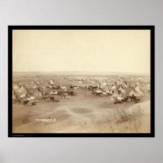 Lakota Indian Camp Pine Ridge SD 1891 Print