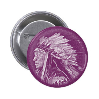 Lakota Indian Chief Button