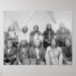 Lakota Indian Chiefs who Met General Miles to En Poster