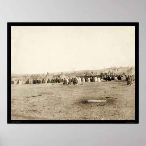 Lakota Indian Council at Pine Ridge SD 1891 Poster