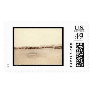 Lakota Indians at Beef Issue SD 1891 Postage Stamp