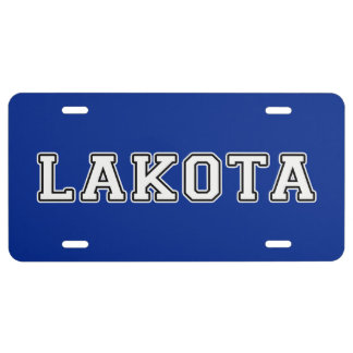 Lakota License Plate
