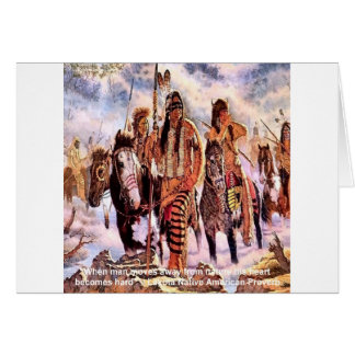 Lakota Native American Nature Proverb Card