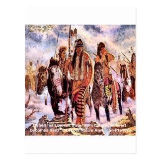Lakota Native American Nature Proverb Postcard