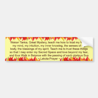 lakota prayer bumper sticker
