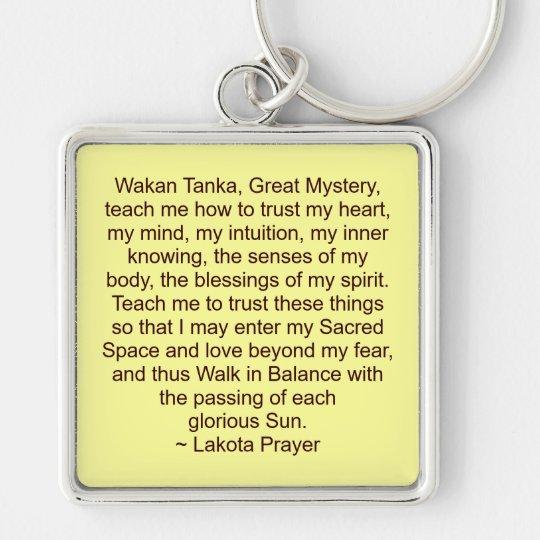 lakota prayer keychain