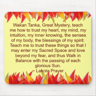 lakota prayer mousepad