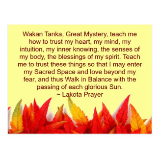 lakota prayer postcard