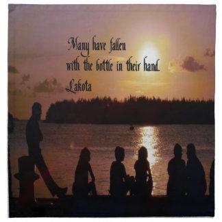 Lakota Proverb Cloth Napkins
