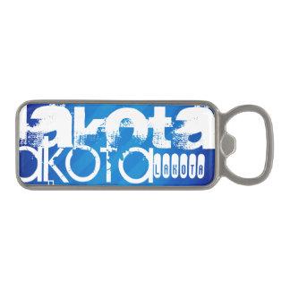 Lakota; Royal Blue Stripes Magnetic Bottle Opener