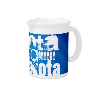 Lakota; Royal Blue Stripes Drink Pitcher