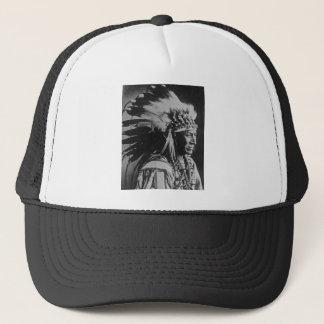 Lakota Sioux Vintage Chief White Swan Trucker Hat