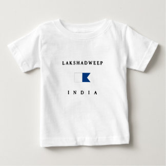 Lakshadweep India Alpha Dive Flag Baby T-Shirt