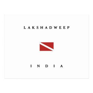 Lakshadweep India Scuba Dive Flag Post Cards