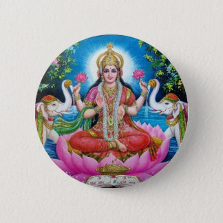 Lakshmi Goddess of Love, Prosperity, and Wealth Button