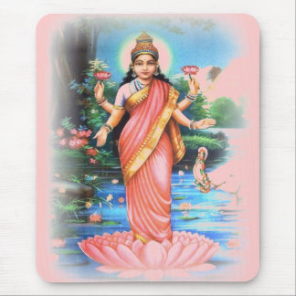 LAKSHMI Goddess of Wealth and Prosperity Mouse Pad