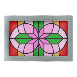 Lakshmi Lotus Rectangular Belt Buckle