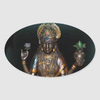 Lakshmi Oval Sticker