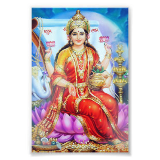 """Lakshmi Print (4"""" x 6"""") - Version 1 Photo Print"""