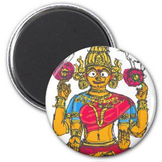 Lakshmi / Shridebi in Meditation Pose Magnet