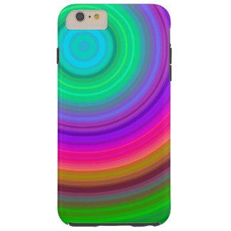 Lala 8788; iPhone de neón 6 de Tunnle del arco Funda Para iPhone 6 Plus Tough