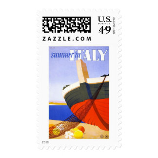 Lalia Summer in Italy Vintage Travel Stamps