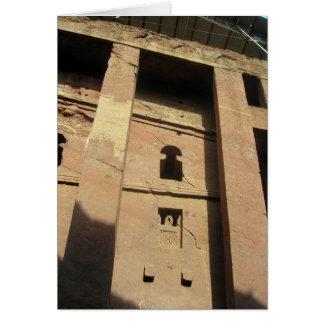 Lalibela Ethiopia Church Card