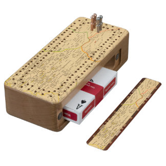 L'Allemagne 1137 a 1273 Cherry Cribbage Board