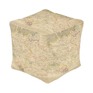 L'Allemagne 1373 a 1437 Cube Pouf