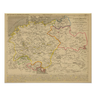 L'Allemagne 1373 a 1437 Poster