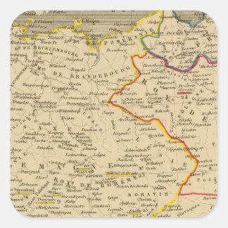 L'Allemagne 1373 a 1437 Square Sticker
