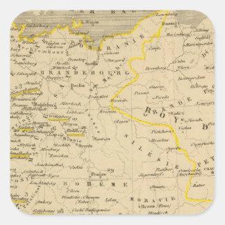 L'Allemagne 1437 a 1612 Square Sticker