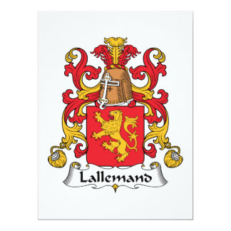 Lallemand Family Crest Card