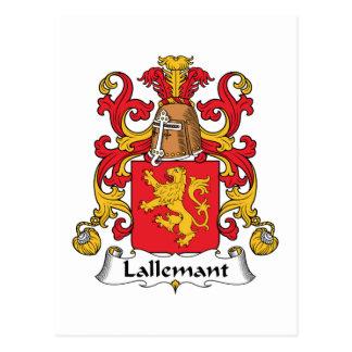 Lallemant Family Crest Postcard