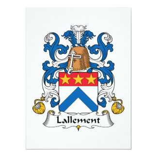 Lallement Family Crest 6.5x8.75 Paper Invitation Card