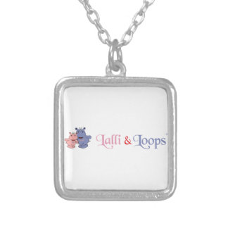 Lalli and loop article silver plated necklace