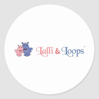 Lalli and loop classic round sticker
