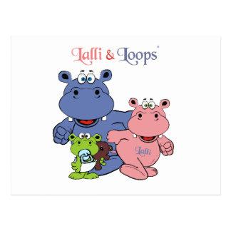 Lalli and loop postcard