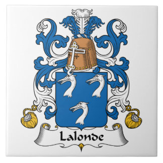 Lalonde Family Crest Ceramic Tile