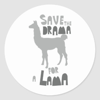 Lama Drama Classic Round Sticker