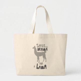Lama Drama Large Tote Bag